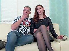 Redhead Swinger Cuckolds Husband amateur sex