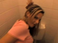 Blonde European Amateur Girl Gets Fucked In Public Bathroom amateur sex