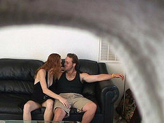 These Lovers Feel Free When Fucking Because They Don't Even Think, Somebody Is Watching Them. amateur sex