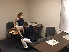 Horny Boss Is Drilling His Smart Secretary But Forgets To Switch Off The Cam On The Wall. amateur sex